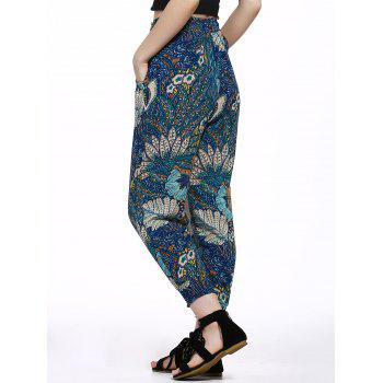 Trendy Ethnic Print Beach Pants For Women - COLORMIX M