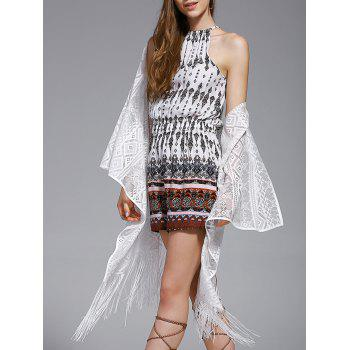 Trendy Lace Fringed Spliced Cover-Up For Women