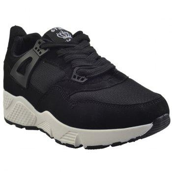 Buy Stylish Breathable Solid Colour Design Women's Athletic Shoes BLACK