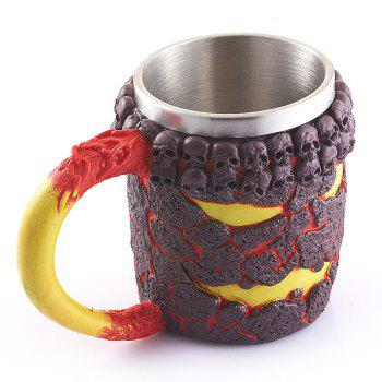 15OZ Halloween Magma Monster Pattern Beer Cup For Bar Festive Decoration -  TAN