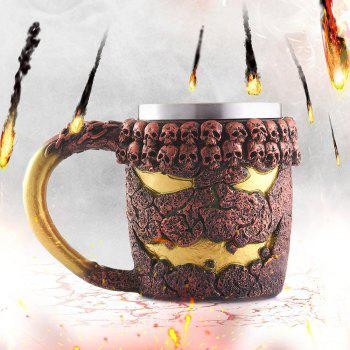 15OZ Halloween Bronze Monster Pattern Beer Cup For Bar Festive Decoration