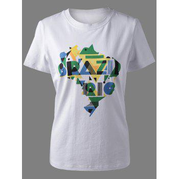 Trendy Amazon Rive Print T-Shirt For Women