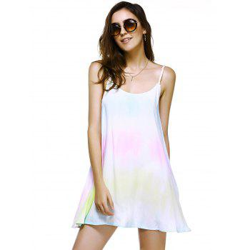 Fashionable Dress Printing Weave Spaghetti Strap For Woman - COLORMIX XL