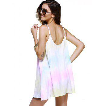 Fashionable Dress Printing Weave Spaghetti Strap For Woman - COLORMIX L