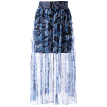Fashionable Camo Printing Tulle Grenadine Skirt For Women