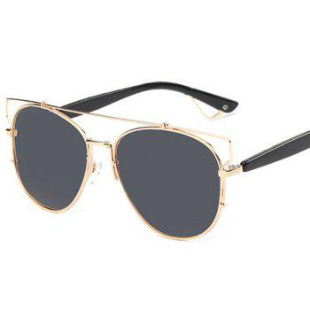 Stylish All Match Street Photograph Style Golden Frame Mirrored Pilot Sunglasses