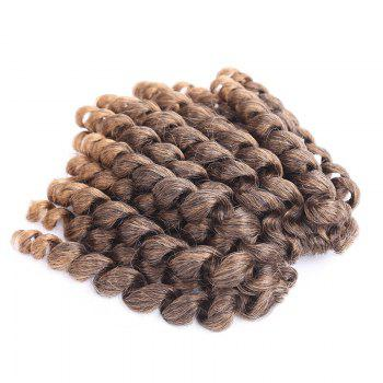 Exotic Short Curly Braid Mixed Color Synthetic Hair Extension For Women