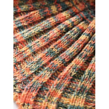 Chic Quality Mixed Color Knitted Mermaid Tail Design Blankets - SWEET ORANGE