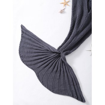High Quality Comfortable Crochet Knitted Shark Design Blankets -  GRAY