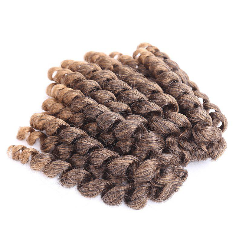 Exotic Short Curly Braid Mixed Color Synthetic Hair Extension For Women - COLORMIX