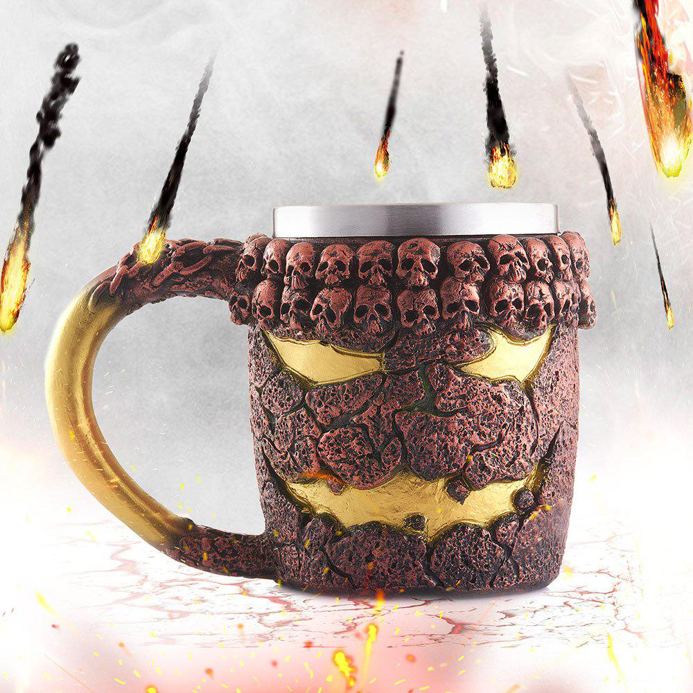 15OZ Halloween Bronze Monster Pattern Beer Cup For Bar Festive Decoration - TAN