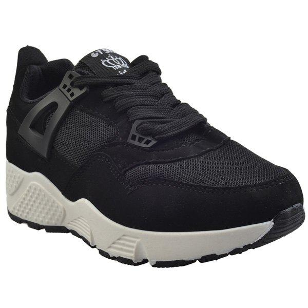 Stylish Breathable and Solid Colour Design Women's Athletic Shoes - BLACK 40