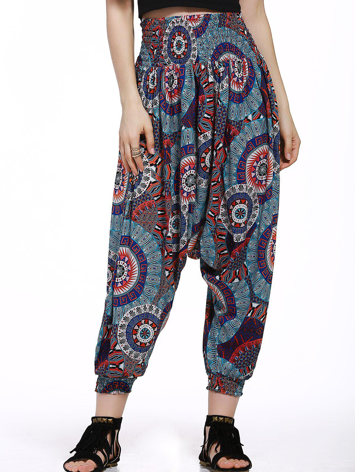 Stylish Relaxed Floral Print Pants For Women