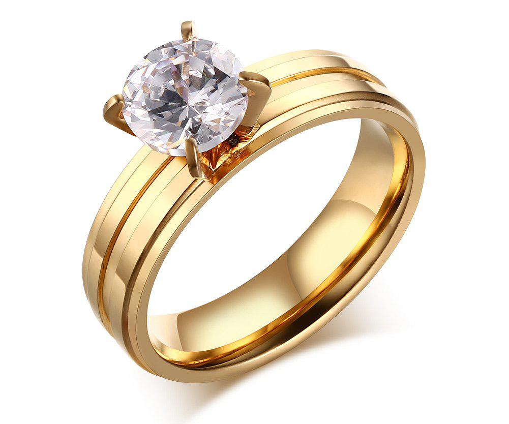 Zircon Prong Setting Ring classic zircon prong setting ring for women