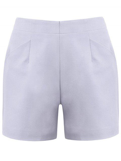 Slimming Women's High-Waisted A-line Shorts - LIGHT GRAY S