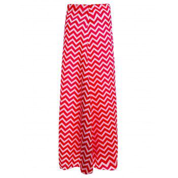 Trendy Style Zig Zag Striped Print Zippered Women's Skirt