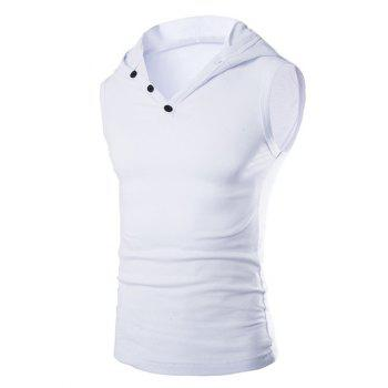 Men's Casual Hooded Solid Color Tank Top
