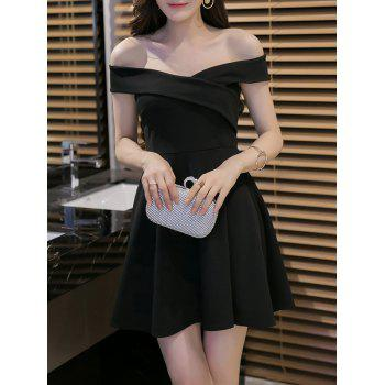 Stylish Women's Off The Shoulder High Waisted Dress