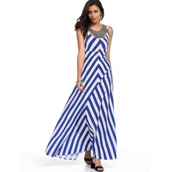 Stylish Sleeveless Zig Zag Tank Dress For Women