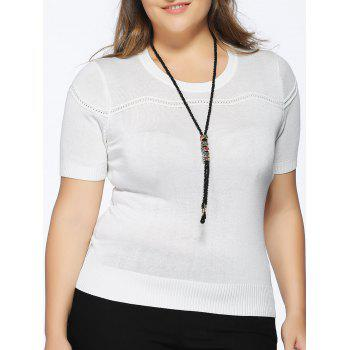 Chic Plus Size Spliced Slimming Solid Color Women's Knitwear