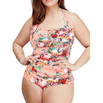 Fashionable Women's Plus Size Sweetheart Neck Floral One-Piece Swimsuit