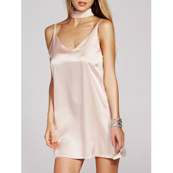 Spaghetti Strap Satin Mini Dress