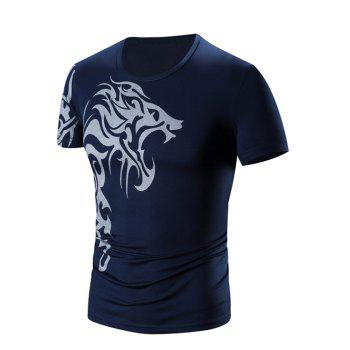 Buy Men's Round Neck Printing Short Sleeve T-Shirt