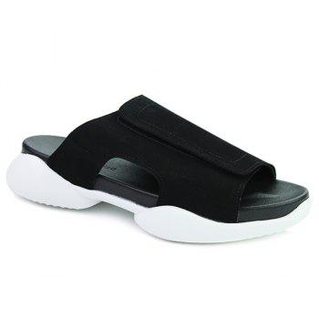 Casual Black and  Design Men's Slippers