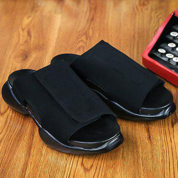 Casual Black and  Design Men's Slippers - BLACK 40