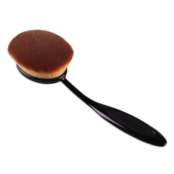 Cosmetic Toothbrush Shape Large Supersoft Fiber Liquid Foundation Brush - BLACK