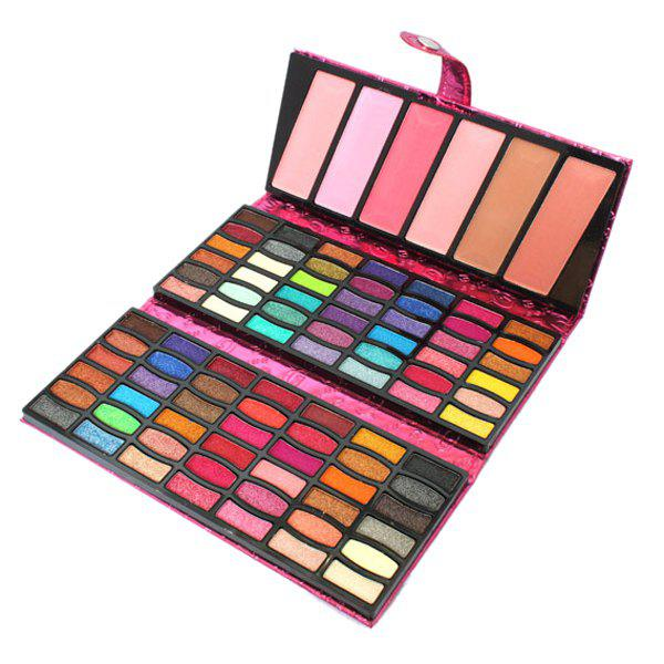 Natural 90 Colours Shimmer Matte Eye Shadow Blusher Makeup Collection Wallet Packaging - COLORMIX