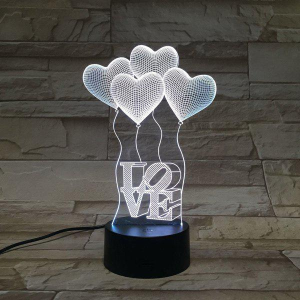 3D Heart Shape Balloon Bedroom Acrylic LED Night Light 【аксессуары для xbox】 microsoft microsoft xbox one s host stand stand up stand