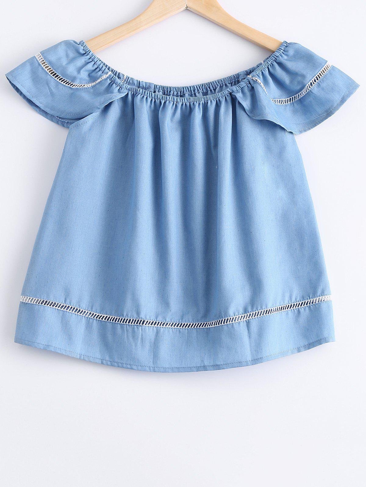 Simplel Womens ScoopNeck Short Sleeves TopWomen<br><br><br>Size: ONE SIZE(FIT SIZE XS TO M)<br>Color: LIGHT BLUE