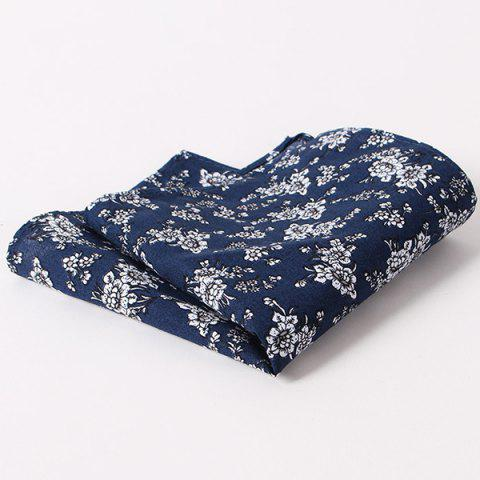 Fashion Tiny Floral Pattern Wedding or Party Business Suit Pocket Square - CADETBLUE