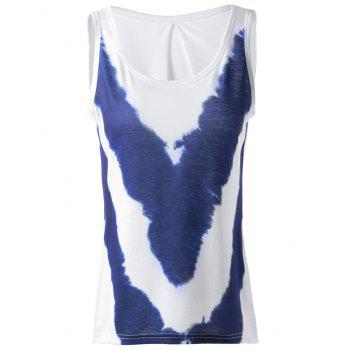 Fashionable Women's Loose-Fitting Simple Scoop Neck Sleeveless Printing T-shirts