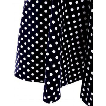 Sweet Polka Dot Print Sweetheart Neck Sleeveless Dress For Women - XL XL