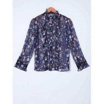 Elegant Chiffon Printed Shirt For Women