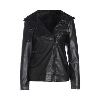 Long Sleeve Faux Leather Jacket