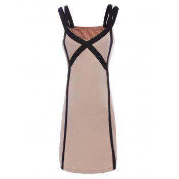 Sexy Sweetheart Neck Short Sleeve Spliced Hollow Out Women's Dress