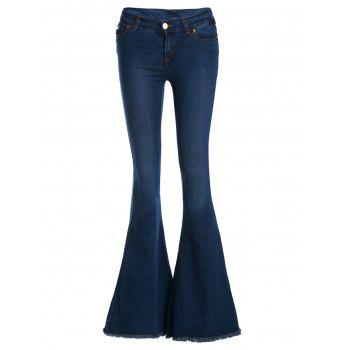 Vintage Low-Waisted Loose-Fitting Women's Bell Bottom Jeans
