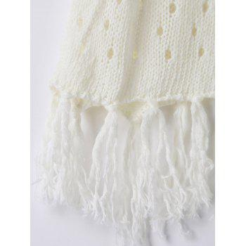 Trendy Solid Color Hollow Out Crochet Women's Cover Up - WHITE ONE SIZE(FIT SIZE XS TO M)