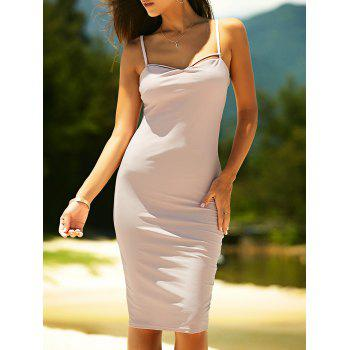 Women's Bodycon Spaghetti Strap Criss-Cross Dress