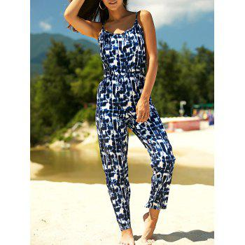 Stylish Women's Strappy Tie Dyed Jumpsuit