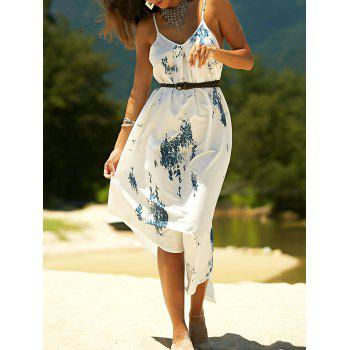 Stylish Women's Printed Asymmetric Cami Dress