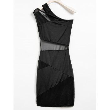 Casual One-Shoulder Sleeveless Hollow Out See-Through Women's Dress