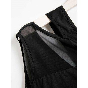 Casual One-Shoulder Sleeveless Hollow Out See-Through Women's Dress - BLACK ONE SIZE(FIT SIZE XS TO M)