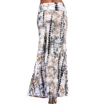 Ethnic Tie-Dyed Maxi Skirt For Women - COLORMIX 3XL