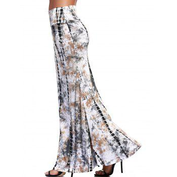 Ethnic Tie-Dyed Maxi Skirt For Women - COLORMIX L