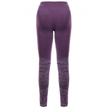 Elastic Waist Women's Sports Leggings - PURPLE L