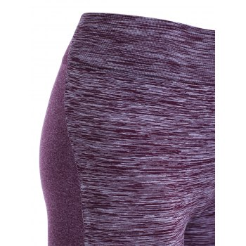 Elastic Waist Women's Sports Leggings - PURPLE S